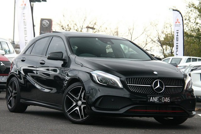 Used Mercedes-Benz A-Class W176 807MY A250 D-CT 4MATIC Sport Essendon Fields, 2017 Mercedes-Benz A-Class W176 807MY A250 D-CT 4MATIC Sport Black 7 Speed