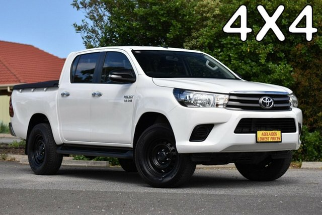 Used Toyota Hilux GUN126R SR Double Cab Morphett Vale, 2015 Toyota Hilux GUN126R SR Double Cab White 6 Speed Sports Automatic Utility