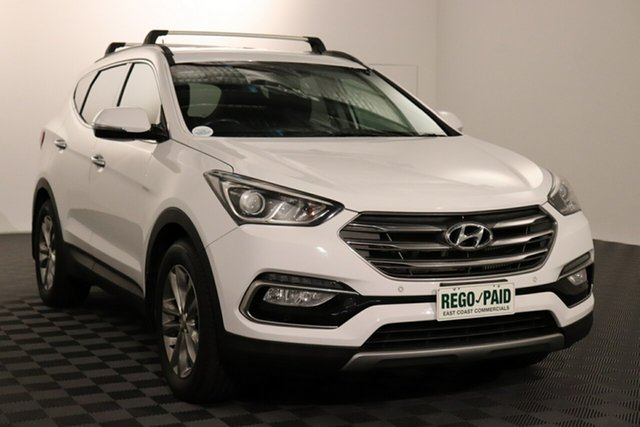 Used Hyundai Santa Fe DM2 MY15 Elite Acacia Ridge, 2016 Hyundai Santa Fe DM2 MY15 Elite White 6 speed Automatic Wagon