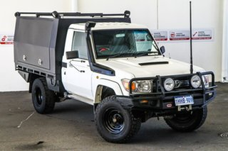 2012 Toyota Landcruiser VDJ79R MY12 Update GXL (4x4) French Vanilla 5 Speed Manual Cab Chassis.