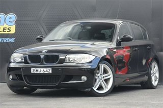 2008 BMW 1 Series E87 MY07 120i Black 6 Speed Automatic Hatchback.