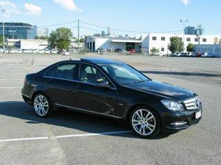 2011 Mercedes-Benz C250 W204 MY11 Avantgarde BE Black 7 Speed Automatic G-Tronic Sedan.