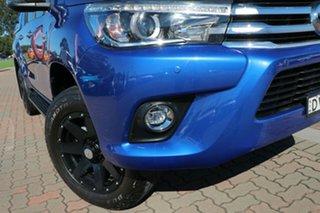2017 Toyota Hilux GUN126R SR5 Double Cab Blue 6 Speed Sports Automatic Utility.