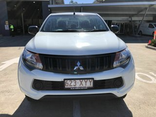 2018 Mitsubishi Triton MQ MY18 GLX+ Double Cab White 5 Speed Sports Automatic Utility.