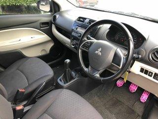 2013 Mitsubishi Mirage LA MY14 ES Pink 5 Speed Manual Hatchback