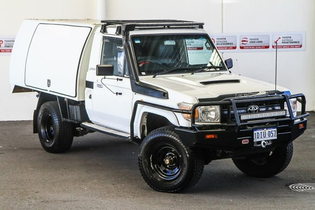 Pre-Owned Toyota Landcruiser VDJ79R 09 Upgrade Workmate (4x4) Myaree, 2010 Toyota Landcruiser VDJ79R 09 Upgrade Workmate (4x4) French Vanilla 5 Speed Manual Cab Chassis