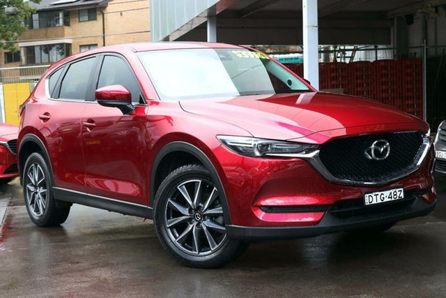 Used Mazda CX-5 KF4WLA GT SKYACTIV-Drive i-ACTIV AWD Waitara, 2018 Mazda CX-5 KF4WLA GT SKYACTIV-Drive i-ACTIV AWD Red 6 Speed Sports Automatic Wagon
