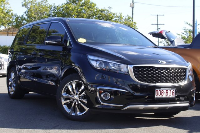 Used Kia Carnival YP MY16 Platinum Mount Gravatt, 2016 Kia Carnival YP MY16 Platinum Black 6 Speed Sports Automatic Wagon