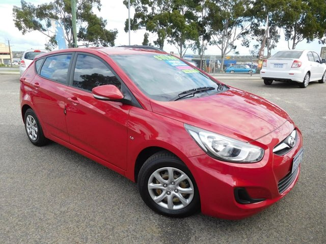 Used Hyundai Accent RB Active Wangara, 2013 Hyundai Accent RB Active Red 5 Speed Manual Hatchback
