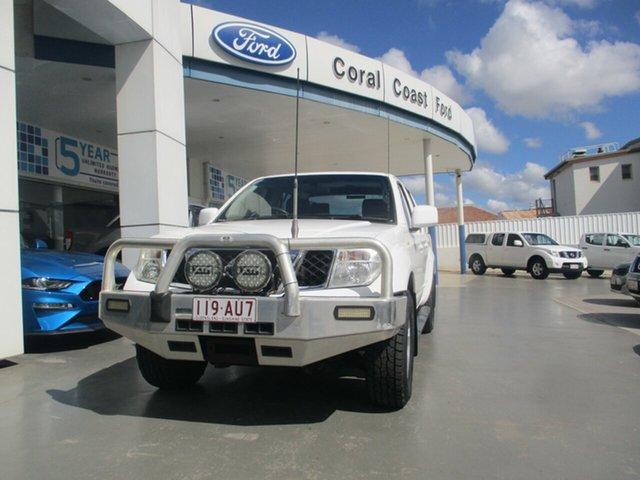 Used Nissan Navara D40 ST (4x4) Bundaberg, 2010 Nissan Navara D40 ST (4x4) White 5 Speed Automatic Dual Cab Pick-up