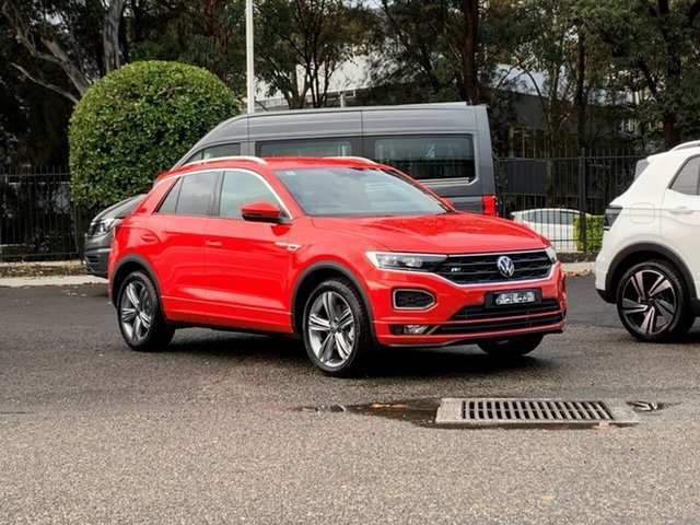 Demo Volkswagen T-ROC A1 MY21 140TSI DSG 4MOTION Sport Botany, 2021 Volkswagen T-ROC A1 MY21 140TSI DSG 4MOTION Sport Red 7 Speed Sports Automatic Dual Clutch