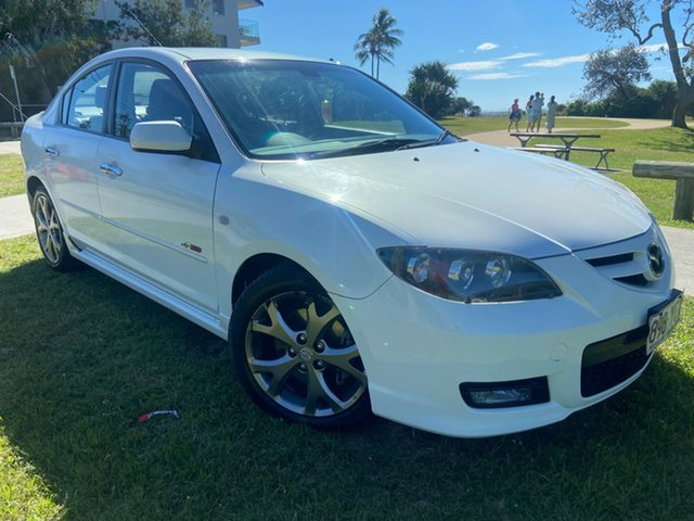 Used Mazda 3 BK1032 MY08 SP23 Tugun, 2008 Mazda 3 BK1032 MY08 SP23 White 5 Speed Sports Automatic Sedan