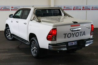2016 Toyota Hilux GUN126R SR5 (4x4) Glacier White 6 Speed Automatic Dual Cab Utility.
