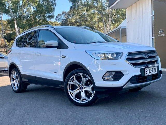 Used Ford Escape ZG 2019.25MY Titanium Clare, 2018 Ford Escape ZG 2019.25MY Titanium White 6 Speed Sports Automatic SUV