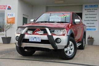 2009 Mitsubishi Triton ML MY09 GLX-R (4x4) Red 5 Speed Manual 4x4 Double Cab Utility.