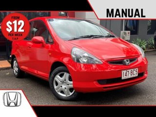 2003 Honda Jazz GD GLi Red 5 Speed Manual Hatchback.