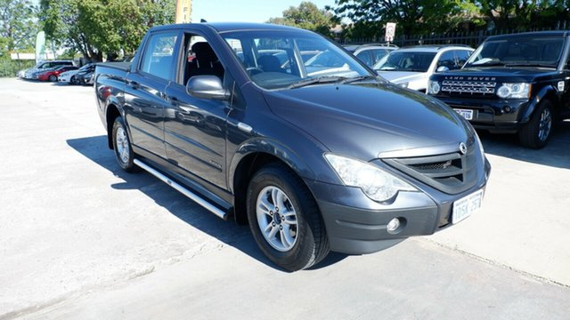 Used Ssangyong Actyon Sports 100 Series MY11 Sports 4x2 St James, 2011 Ssangyong Actyon Sports 100 Series MY11 Sports 4x2 Grey 6 Speed Automatic Utility