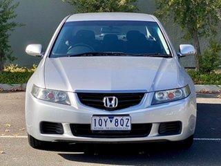 2005 Honda Accord Euro CL Silver 5 Speed Automatic Sedan.