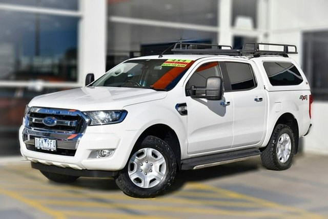 Used Ford Ranger PX MkII XLT Double Cab Berwick, 2015 Ford Ranger PX MkII XLT Double Cab White 6 Speed Sports Automatic Utility