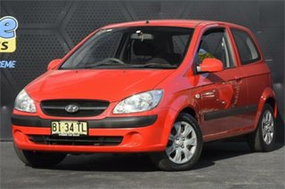 2008 Hyundai Getz TB MY07 S Red 5 Speed Manual Hatchback.