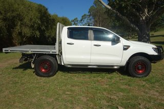 2013 Ford Ranger PX XL White 6 Speed Manual Cab Chassis.