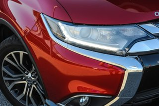 2015 Mitsubishi Outlander ZK MY16 LS 2WD Red/Black 6 Speed Constant Variable Wagon.