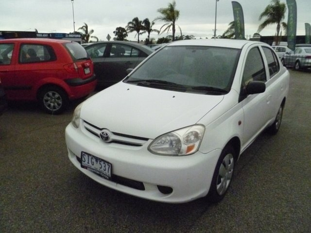 Used Toyota Echo NCP12R MY03 Moorabbin, 2003 Toyota Echo NCP12R MY03 White 4 Speed Automatic Sedan