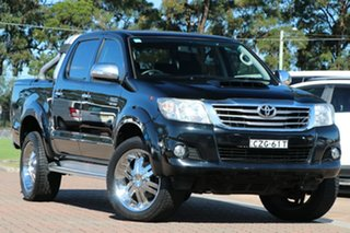 2015 Toyota Hilux KUN26R MY14 SR5 Double Cab Black 5 Speed Automatic Utility.