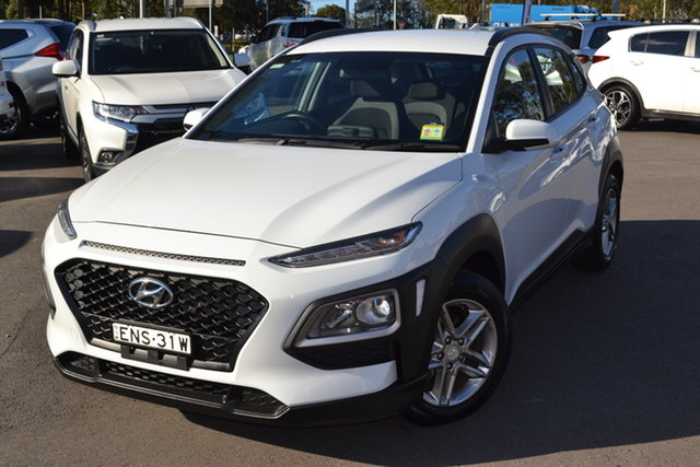 Used Hyundai Kona OS.2 MY19 Active 2WD Maitland, 2018 Hyundai Kona OS.2 MY19 Active 2WD Chalk White 6 Speed Sports Automatic Wagon