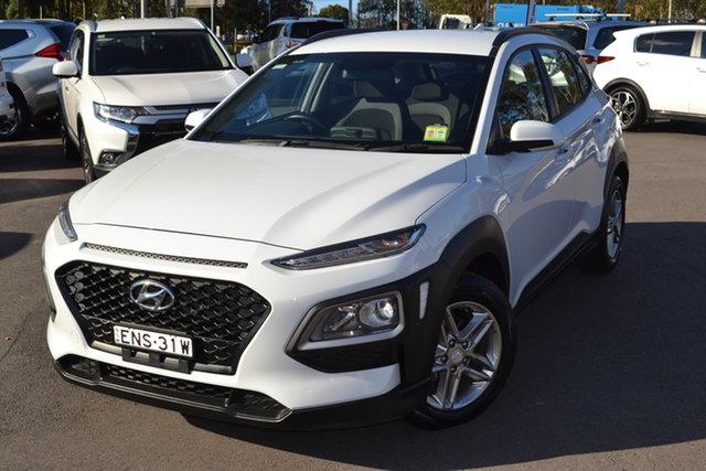 Used Hyundai Kona OS.2 MY19 Active 2WD Maitland, 2018 Hyundai Kona OS.2 MY19 Active 2WD Chalk White 6 Speed Sports Automatic Wagon