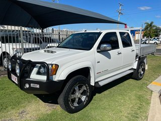 2009 Holden Colorado RC MY09 LX (4x4) White 5 Speed Manual Crew Cab Chassis.