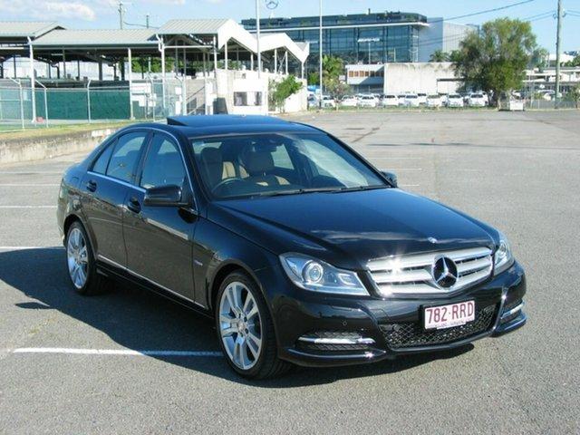 Used Mercedes-Benz C250 W204 MY11 Avantgarde BE Albion, 2011 Mercedes-Benz C250 W204 MY11 Avantgarde BE Black 7 Speed Automatic G-Tronic Sedan
