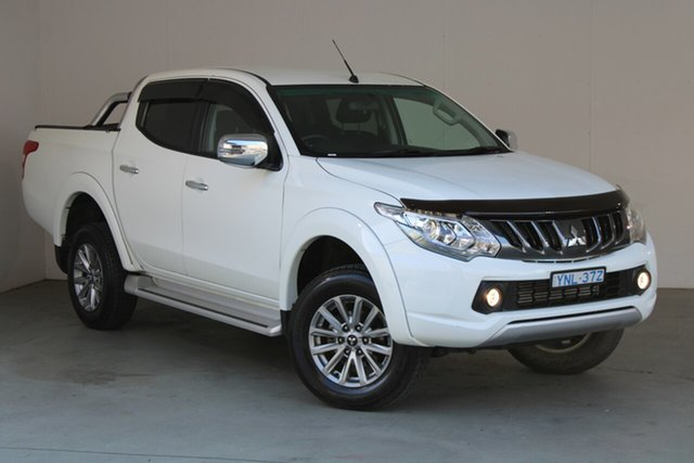 Used Mitsubishi Triton MR MY19 GLS Double Cab Phillip, 2018 Mitsubishi Triton MR MY19 GLS Double Cab White 6 Speed Sports Automatic Utility