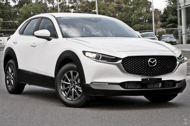 Demo Mazda CX-30 DM2W7A G20 SKYACTIV-Drive Pure Waitara, 2021 Mazda CX-30 DM2W7A G20 SKYACTIV-Drive Pure White 6 Speed Sports Automatic Wagon