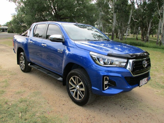 Pre-Owned Toyota Hilux GUN126R MY19 SR5 (4x4) Roma, 2018 Toyota Hilux GUN126R MY19 SR5 (4x4) Nebula Blue 6 Speed Automatic Double Cab Pick Up