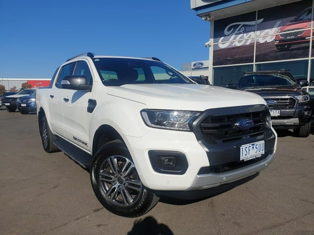 Used Ford Ranger PX MkIII 2020.75MY Wildtrak Essendon Fields, 2020 Ford Ranger PX MkIII 2020.75MY Wildtrak White 10 Speed Sports Automatic Double Cab Pick Up