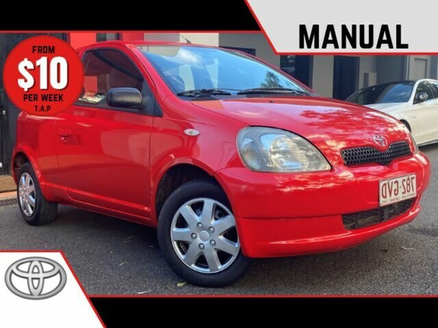 Used Toyota Echo NCP10R Ashmore, 1999 Toyota Echo NCP10R Red 5 Speed Manual Hatchback
