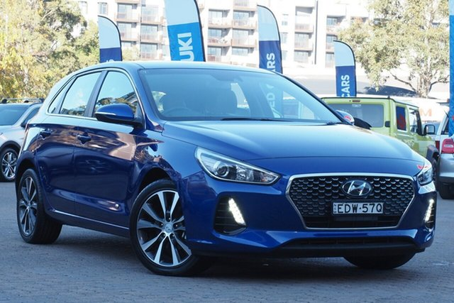 Used Hyundai i30 PD2 MY20 Elite Rosebery, 2019 Hyundai i30 PD2 MY20 Elite Blue 6 Speed Automatic Hatchback