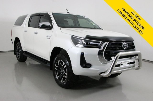 Used Toyota Hilux GUN126R Facelift SR5+ (4x4) Bentley, 2021 Toyota Hilux GUN126R Facelift SR5+ (4x4) White 6 Speed Automatic Double Cab Pick Up
