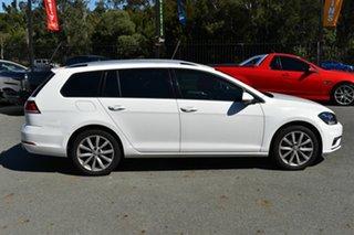 2017 Volkswagen Golf AU MY18 110 TSI Comfortline White 7 Speed Auto Direct Shift Wagon