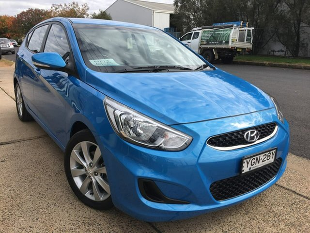 Used Hyundai Accent Sport Dubbo, 2017 Hyundai Accent RB6 Sport Blue Sports Automatic