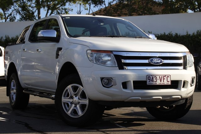 Used Ford Ranger PX XLT Double Cab Mount Gravatt, 2014 Ford Ranger PX XLT Double Cab White 6 Speed Sports Automatic Utility