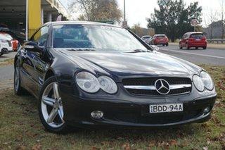 2003 Mercedes-Benz SL-Class R230 SL500 Black 5 Speed Sports Automatic Roadster.