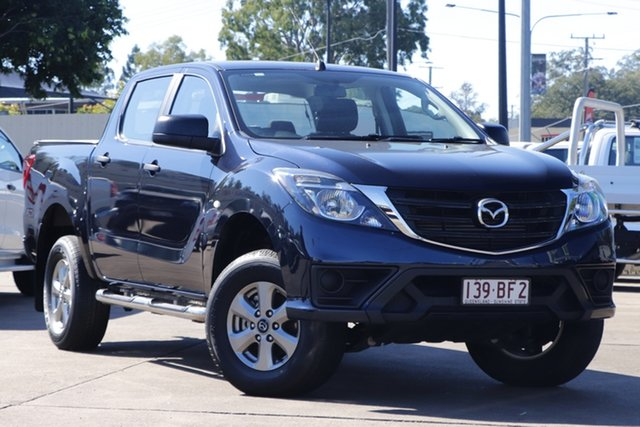 Used Mazda BT-50 UR0YG1 XT 4x2 Hi-Rider Bundamba, 2018 Mazda BT-50 UR0YG1 XT 4x2 Hi-Rider Blue 6 Speed Sports Automatic Utility