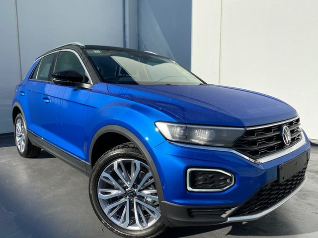 New Volkswagen T-ROC A1 MY21 110TSI Style Liverpool, 2021 Volkswagen T-ROC A1 MY21 110TSI Style Ravenna Blue 8 Speed Sports Automatic Wagon