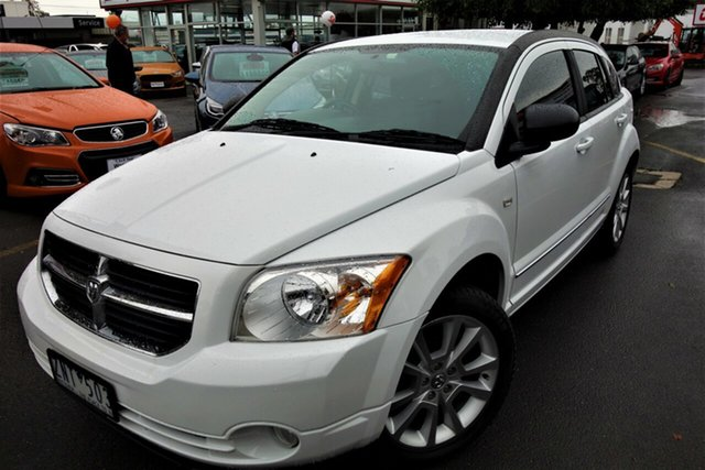 Used Dodge Caliber PM MY11 SXT Seaford, 2011 Dodge Caliber PM MY11 SXT White 6 Speed Constant Variable Hatchback