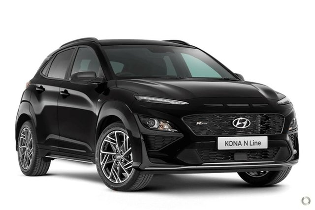 New Hyundai Kona Os.v4 MY21 N-Line D-CT AWD Nailsworth, 2021 Hyundai Kona Os.v4 MY21 N-Line D-CT AWD Phantom Black 7 Speed Sports Automatic Dual Clutch