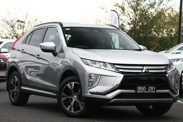 Demo Mitsubishi Eclipse Cross YA MY20 LS 2WD Essendon North, 2020 Mitsubishi Eclipse Cross YA MY20 LS 2WD Sterling Silver 8 Speed Constant Variable Wagon