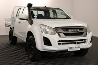 2018 Isuzu D-MAX MY17 SX Crew Cab White 6 speed Automatic Cab Chassis.
