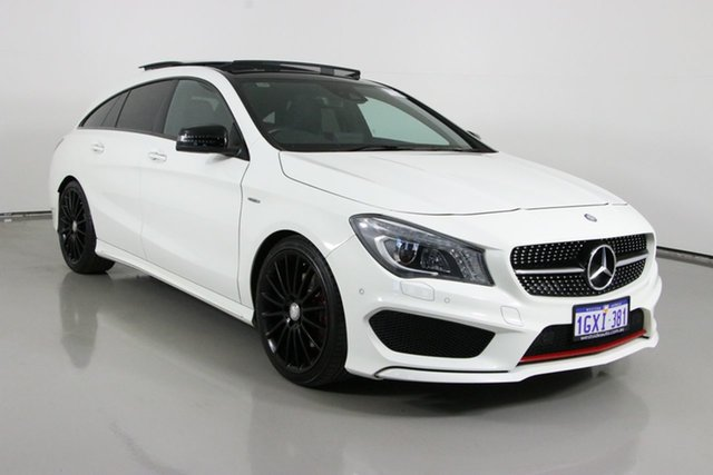 Used Mercedes-Benz CLA250 Shooting Brake 117 4Matic Bentley, 2015 Mercedes-Benz CLA250 Shooting Brake 117 4Matic White 7 Speed Auto Dual Clutch Wagon